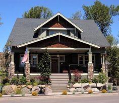 Craftsman Bungalow home plans. Bungalow Style House, Craftsman Style Bungalow, Prairie Style Houses, Bungalow Homes, Bungalow House Plans, Craftsman Bungalows, Craftsman House Plans, Craftsman Homes, Modern Bungalow