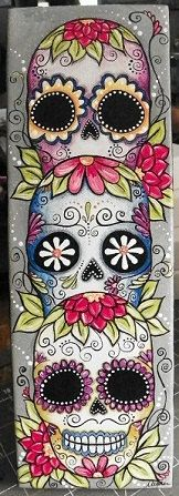 mexican sugar skulls - www.meganscreativebliss.blogspot.com. i want a tattoo of one of these!