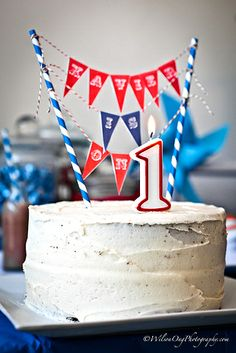 {Real Parties} Red & Blue Pinwheel Birthday Party! | The TomKat Studio