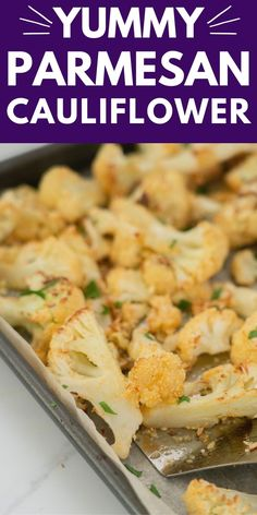 Delicious parmesan roast cauliflower, an easy recipe that takes cauliflower to the next level