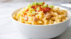 A delicious homemade macaroni and cheese with two kinds of cheese that's made in…