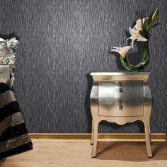 Vymura Panache Plain Glitter Wallpaper in Black and Silver - http://www.godecorating.co.uk/vymura-panache-plain-glitter-wallpaper-black-silver/