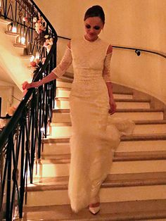 I am not really into wedding dresses but Christina Ricci's Givenchy Wedding Dress is beautiful| People.com