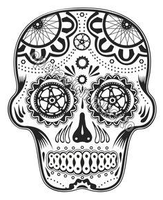Cycling sugar-ish skull