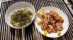 Hauts de cuisses de poulet Dijon, salade de fenouil, thon et câpres