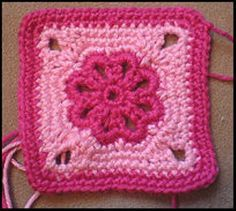 [Free Pattern] This Flower Square Looks Amazing In All Color Combinations - Knit And Crochet Daily