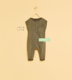 Image 1 of FADED DUNGAREES WITH BUTTON NECK from Zara