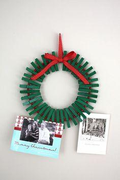 Weihnachtskarten Schöne selber basteln türkranz