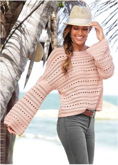 Shop Oversized Sweater from VENUS to keep you warm and stylish in cooler climates. Pink Fashion, Womens Fashion, Everything Pink, Sweater Outfits, Perfect Fit, Pink Ladies, Bell Sleeves, Pullover, Knitting