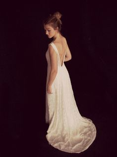 cb5b56b520efa6 Ivory Lace Wedding Dress Designed by Lucy Can't Dance Lucy Can't Dance