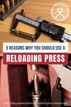 Reloading is taking off as a hobby, in part thanks to several great resources across the web. With so much talk also comes misinformation, and some people are wondering whether a reloading press is necessary. Let us assure you, it is. To prove it, let's go through the top reasons why you should be using a reloading press both in general and for the reloading hobby at large. #reloading #reloadingpress #ammunition #gunsandammo #gunassociation How To Make Diy Projects, Bullet Types, Reloading Press, Let Them Talk, Some People, Survival Skills, Firearms, Guns, Top