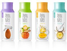 Plan-N cereal shake (boisson healthy) design : mousegraphics, athènes, grèc Yogurt Packaging, Fruit Packaging, Food Packaging Design, Beverage Packaging, Packaging Ideas, Bottle Packaging, Fruit Drinks, Fruit Juice, Healthy Drinks