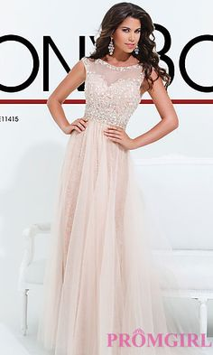 Beaded Lace Gown by Tony Bowls at PromGirl.com