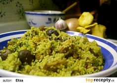 Houbový kuskus recept - TopRecepty.cz Gnocchi, Couscous, Vegetable Recipes, Pasta Recipes, Grains, Vegetables, Foods, Bulgur, Food Food