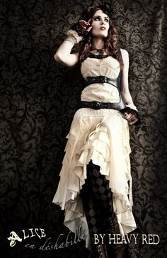 Alice en déshabillé corset and dress from Heavy Red, $180