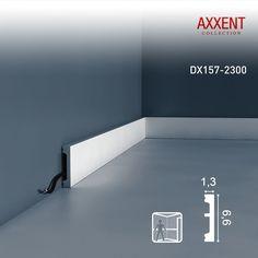 Orac Decor Sockelleiste mit Kabelkanal Orac Decor DX157-2300 AXXENT Zierleiste Wandprofil Kabel Boden Leiste | | Profhome Shop
