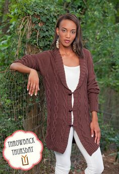 The Winter Afternoon Sweater Jacket would look great in Uptown DK, Merino XF Superwash, or Deluxe DK Superwash.