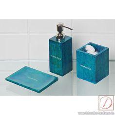 Seifenschale türkis Home Spa Landhaus-Stil - Seifenschale im modernem Design und Trendfarben machen diese Serie nicht nur zu einem Blickfang, sondern zu einem Farbtupfer im Bad.  Es zaubert eine Eleganz in ihrem Bad.