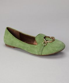 Take a look at this Green Suede Aries Loafer by Chocolat Blu on #zulily today!