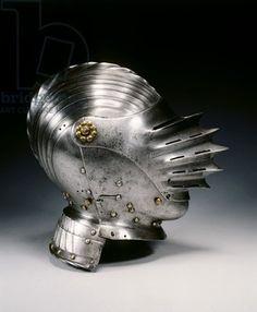 Close helmet in Maximilian style, c.1520 (steel & brass)