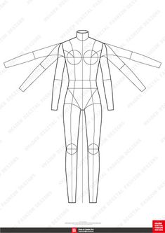 Fashion Flats Body Templates Female Special Edition - Sketch Templates - Ideas of Sketch Templates - Fashion Sketch Template, Fashion Figure Templates, Fashion Design Template, Fashion Design Portfolio, Fashion Design Sketches, Sketch Design, Fashion Designers, Flat Drawings, Flat Sketches
