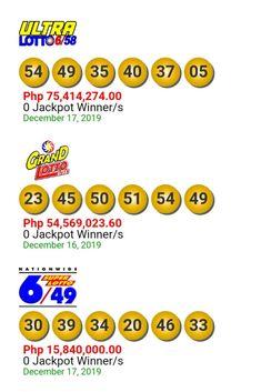 Lotto Result Today December 17, 2019 Lotto Result Today, Winner, December 17