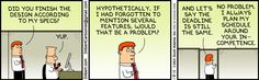 """""""Hypothetically, if I had forgotten to mention several features, would that be a problem?"""""""
