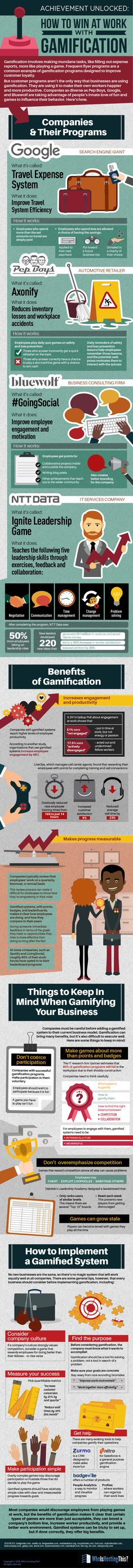 Gamification: How to Win at Work #infographic #Business #EmployeeBenefits