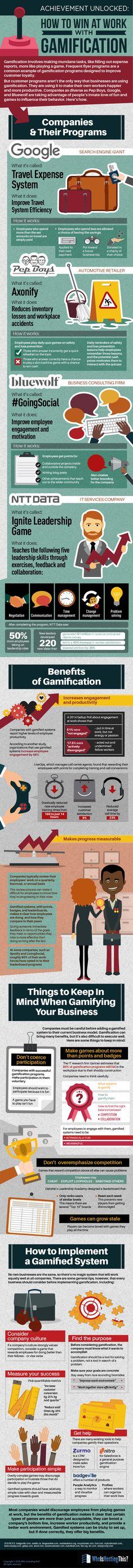 Hola: Una infografía sobre Cómo mejorar en el trabajo con Gamificación. Vía Un saludo Source: WhoIsHostingThis.com