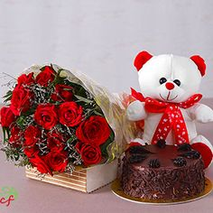 Shop Birthday, Anniversary Flowers, Roses, Mixed Bouquets, Lilies, Teddies, Chocolates, Cakes with same day gifts in through Ludhiana local florist cakeflora.com