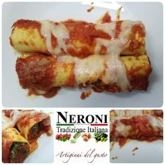 I nostri cannelloni 100% nostra produzione... #neronitradizioneitaliana #madeinitaly #ciboitaliano #sughipronti #pastafresca #foodporn #foodblogger #salsabbq #zuppa