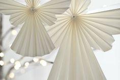 bricolage de Noël –papier-figurines-anges-papier-plie