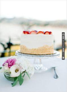 strawberry cake wedding ideas | CHECK OUT MORE IDEAS AT WEDDINGPINS.NET | #weddingcakes