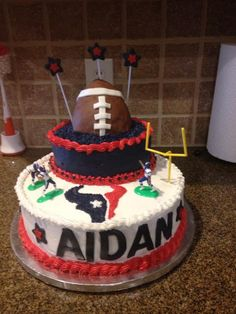 My baby Georgie 25th Birthday cake HE LOVED IT Go TEXANS