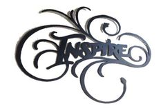 Large Metal Wall Art Inspire by INSPIREMEtals on Etsy, $100.00