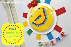 easy summer sun paper plate craft! sooo cute!