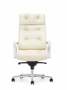 Modrest Forbes Modern White High-Back Office Chair VGFUF133-WHTProduct: 71729Features :Upholstered In White LeatheretteChrome ArmrestsErgonomic DesignPadded HeadrestGas-Lift Adjustable HeightTilt Control - Tilt Backwards4-Position Lockable MechanismLumbar Support - Not AdjustableDesigned For Tall PersonDesigned For Extended UseSwivels5-Point Chrome Rolling BaseHooded CastorsMax. Weight Capacity: 550 Lbs.Warranty: 5 YearsAssembly RequiredDimensions:Chair : W26