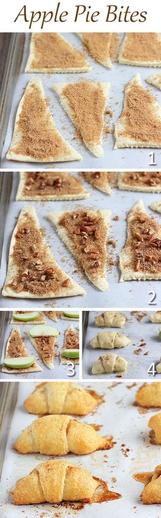 Getting the piecrust right is always my biggest challenge. This recipe for mini apple pie Crescent Rolls is a brilliant idea and so easy to make.