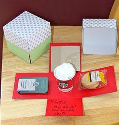 Handmade gift card box