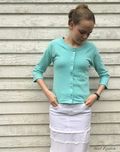 Turn your Lane Raglan into a cardigan with this free tutorial by Skirt Fixation.