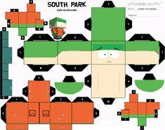 Blog Paper Toy papertoys South Park Kyle template preview Papertoys South Park (x4)
