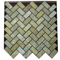 Contemporary Kitchen Tile By Mosaic Direct Gold Yellow Tumbled Mesh Mounted Herringbone Pattern Travertine Green And Blue Hues Of This