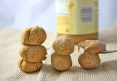 Low carb, Gluten free, Peanut Butter Cookie Dough Balls - Takes less than a minute to make these treats. 150 calories for the whole batch if made with traditional peanut butter. also high fiber with more than 15g of fiber for the batch. Use peanut flour made into peanut butter for even lower fat, and calories.  Might try adding some cocoa to mix.