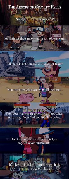 Aesops of Gravity Falls 7-12 #welovegravityfalls