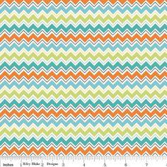 Riley Blake Doohikey Designs Chevron in Aqua by skyerevefabrics, $9.25