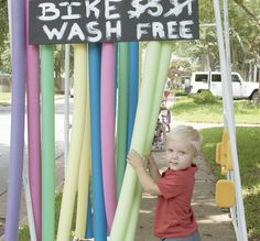 Tour de Adler Bike Wash - cute ideas for bike party