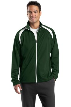 X-Large Forest Green//White Sport-Tek Mens Big Weather Protection Anorak Jacket