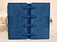 Jeans covered journal Hira Kara BlueSky 4x8 от BlockOfNotes2