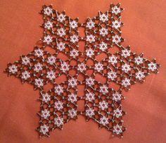 Image - Napperon étoile en perles de rocailles fait au Kosovo - Ambrosia Création - Skyrock.com