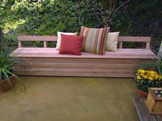 How to Build a Mahogany Patio Bench : Archive : Home & Garden Television